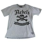 Religion Boy's Skull/Bones Printed Short Sleeve Shirt