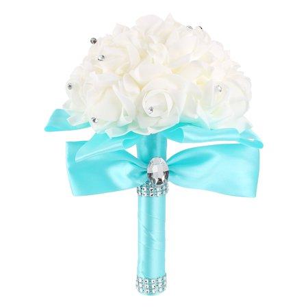 Wedding Bouquet, Bridesmaid Toss Bouquet Hand Made Artificial Flowers for Wedding, Valentine's Day Decoration (Handmade Flowers Decoration)