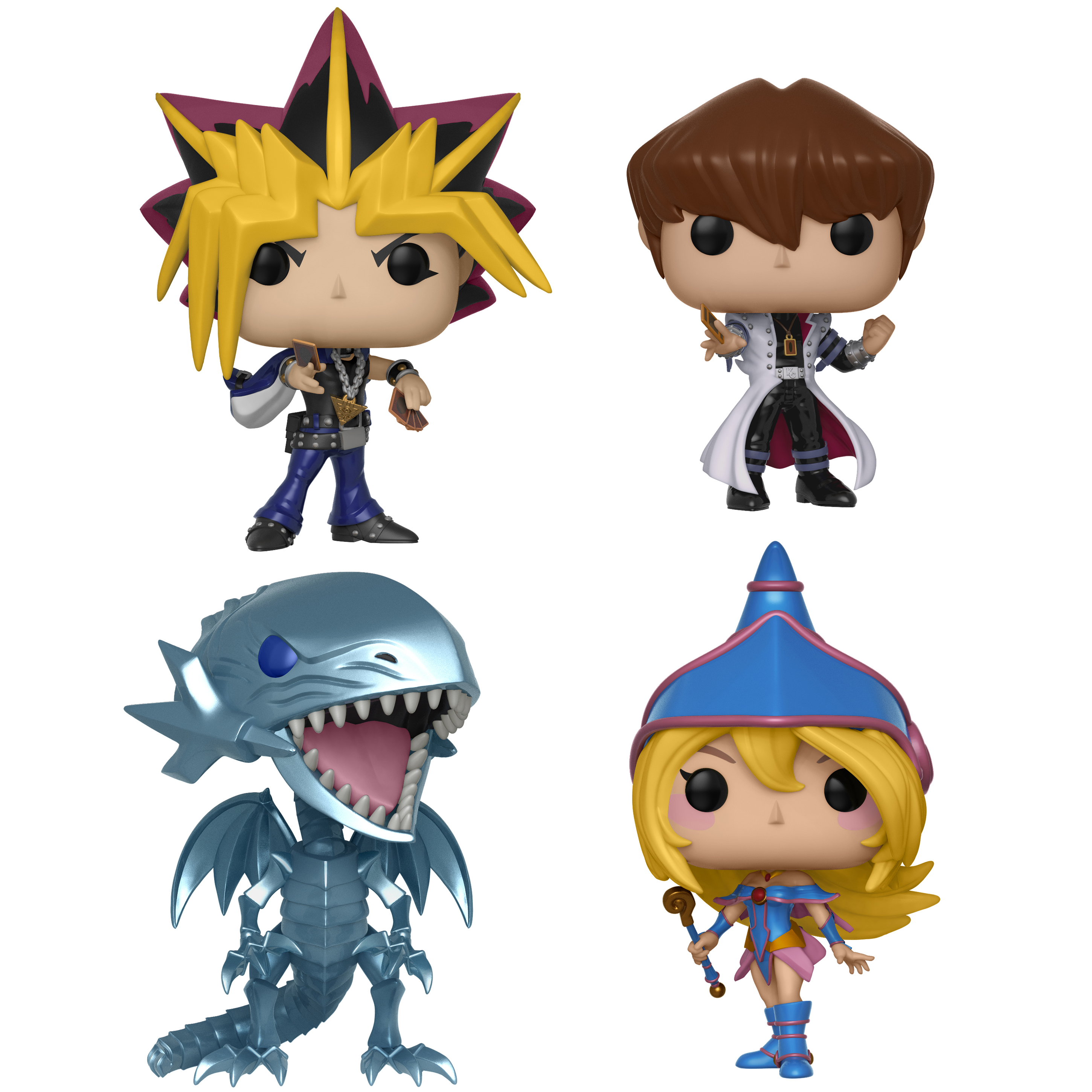 Funko POP! Animation Yu-Gi-Oh! Series 1 Collectors Set - Yami Yugi, Seto Kaiba, Blue Eyes White Drago, Dark Magician Girl