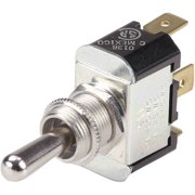 """Ancor Nickel Plated Brass Toggle Switch SPST, On/Off, Bat with 1/4"""" Tab"""