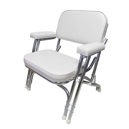 Steamer Deck Chair - Leader Accessories Folding Deck Chair with Aluminum frame, armrests,Portable