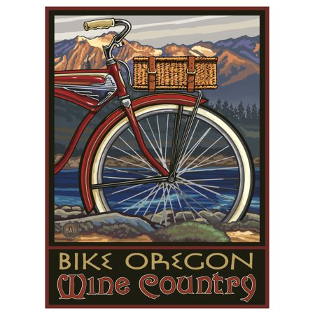 Fat Tire Bike Oregon Wine Country Giclee Art Print Poster by Paul A. Lanquist (9