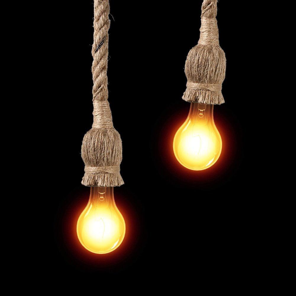 Rope Chandelier Pendant Light Ceiling Lamp E27 Base Lamp ...