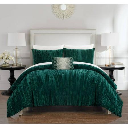 Chic Home Kerk 4 Piece Comforter Set Crinkle Crushed