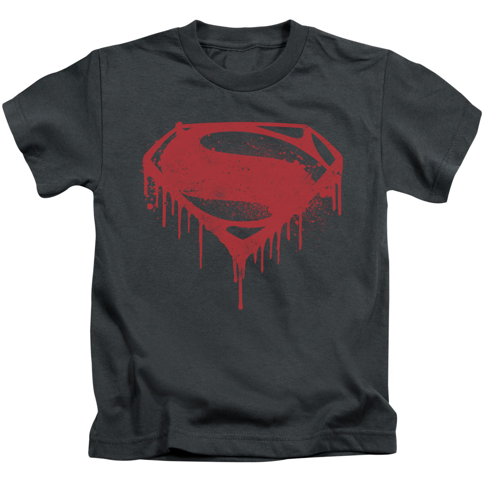 Batman Vs Superman Splattered Little Boys Shirt