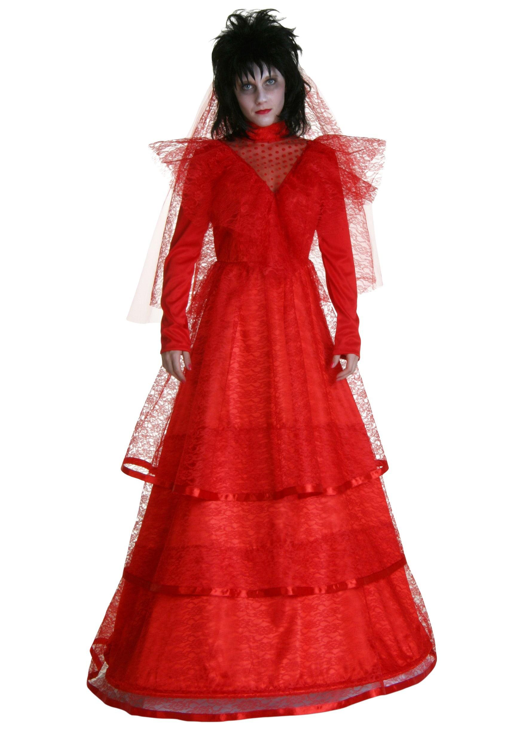 plus size red gothic wedding dress 3x