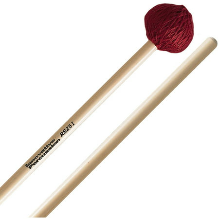Innovative Percussion RS251 Rattan Series Medium Vibraphone/Marimba Mallets w/ Rattan Handles