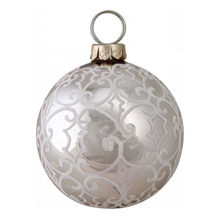 Northlight Natures Luxury Victorian-Style Scrollwork Glass Christmas Ornament ()