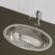 DecoLav Simply Stainless Metal Oval Undermount Bathroom Sink