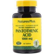 Nature's Plus - Pantothenic Acid 1,000 mg S/R Tab60