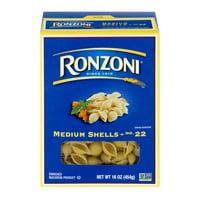 Ronzoni Medium Shells Pasta, 16-Ounce Box