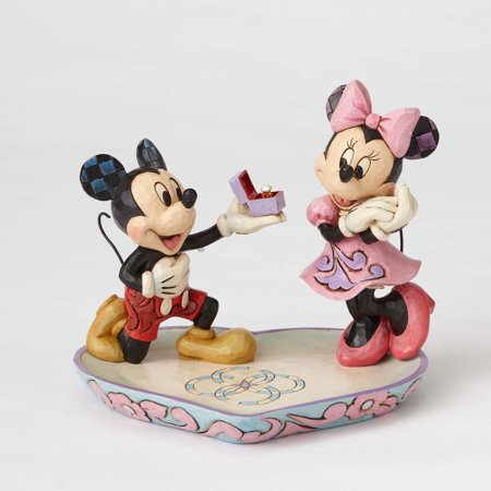 Jim Shore Disney A Magical Moment Mickey Proposing to Minnie 4055436 ()