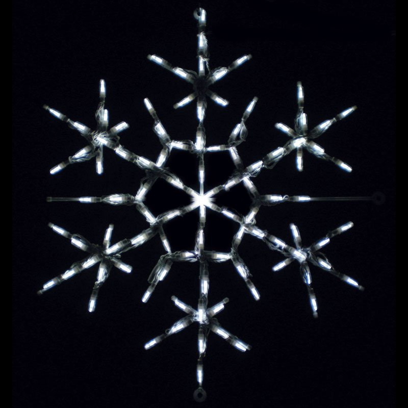 28 in. Outdoor LED Snowflake Star Point Display- 100 Bulbs
