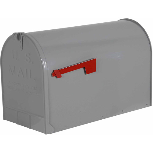 Solar Group Inc ST20 Galvanized Steel Gray Rural Mailbox by Wood Textures Inc