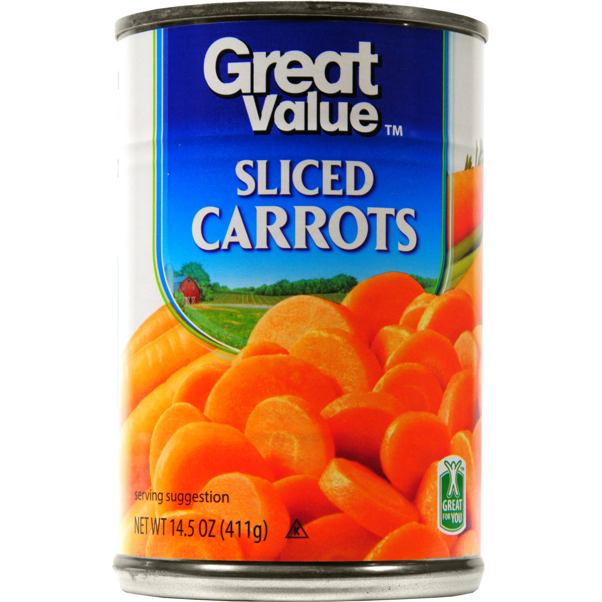 Great Value: Sliced Carrots, 14.5 Oz