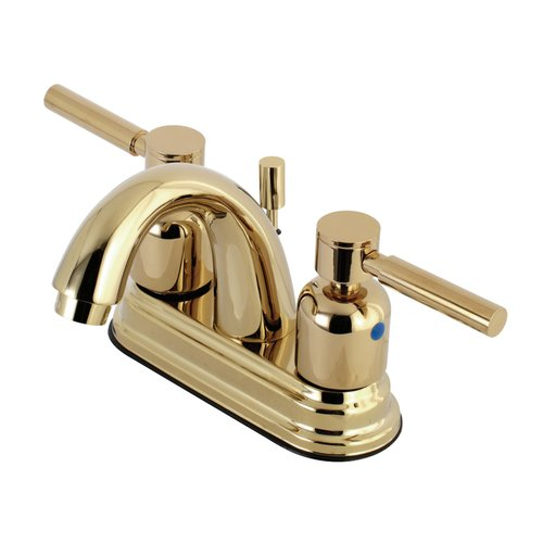 Brushed Nickel Kingston Brass KB1498TAL Tudor 4 Inch Center Bar Faucet Without Drain 4-3//4 inch in Spout Reach