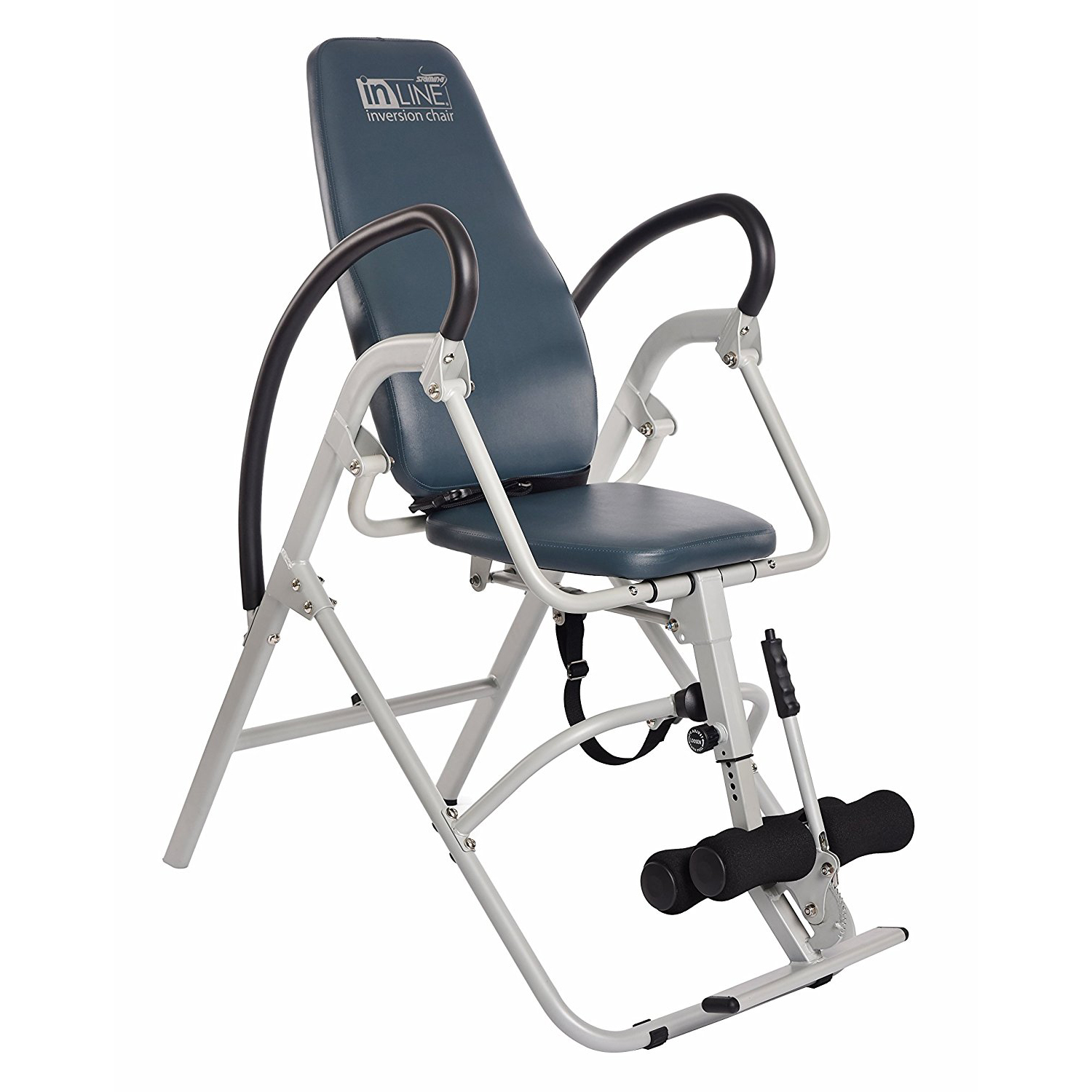 Stamina InLine Gray Back Pain Relief Seated Inversion Therapy Table Chair   1550