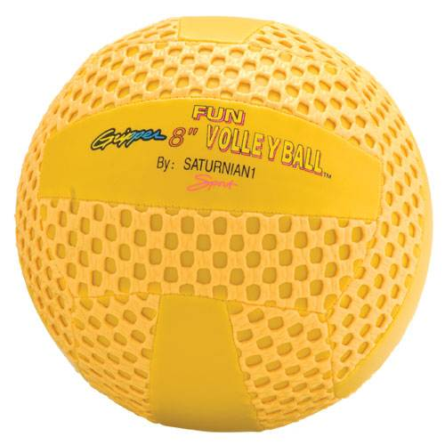 """Color My Class® 8"""" Yellow Fun Gripper Volleyball"""