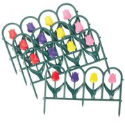 Tulip Border Fence Edging Set - 4 Pc, Multi By Collections Etc