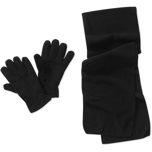Men's Fleece Scarf and Gloves Set