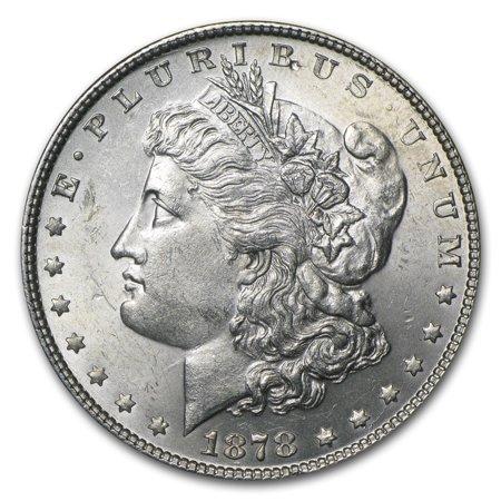 1878 Morgan Silver Dollar 7 Tailfeathers Rev of 78 BU (1878 Morgan Silver Dollar Coins)
