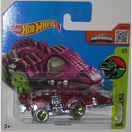 Purple FANGSTER Hot Wheels 2016 Dino Riders Series 1:64 Scale Collectible Die Cast Metal Toy Car Model #4/5 on International Short Card, Purple fangster.., By CaliforniaToyscom