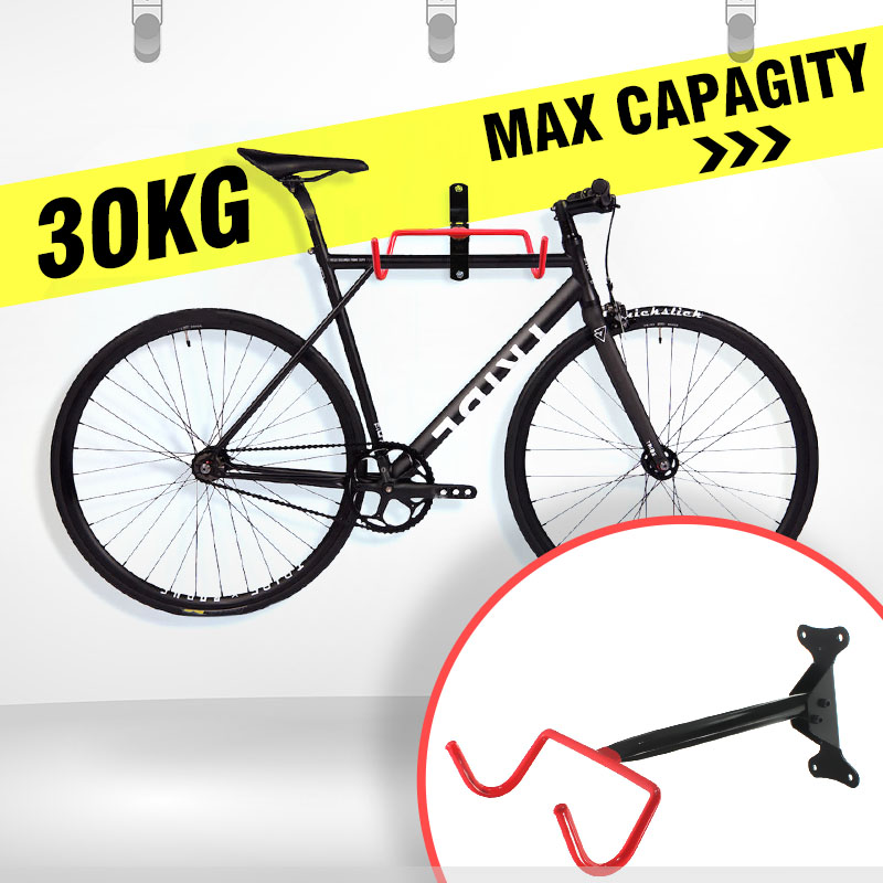 Convenient Bicycle Cycling Rack Display Frame Wall Mounted MTB Road Bike Holder Hanging Tool with Expansion Screws