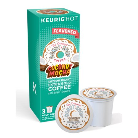 (2 Pack) The Original Donut Shop Coconut Mocha Keurig Single-Serve K-Cup Pods, Medium Roast Coffee, 3