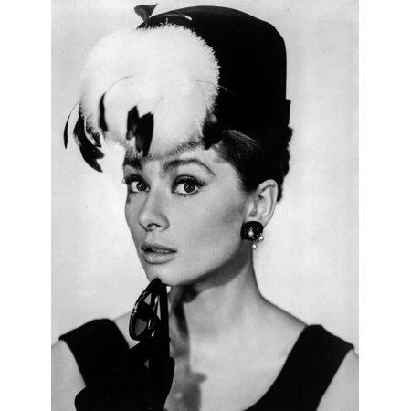 Audrey Hepburn Breakfast at Tiffany's Feather Hat Print Wall Art By Movie Star News - Breakfast At Tiffany's Hat