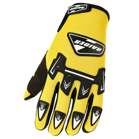 Raider Adult MX Gloves Motocross Dirt Bike ATV Trail Riding BMX
