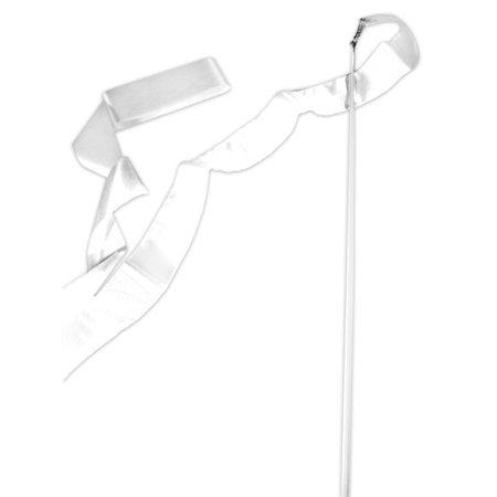 White Gymnastics Ribbon Wand (Cheap Ribbon Wands)