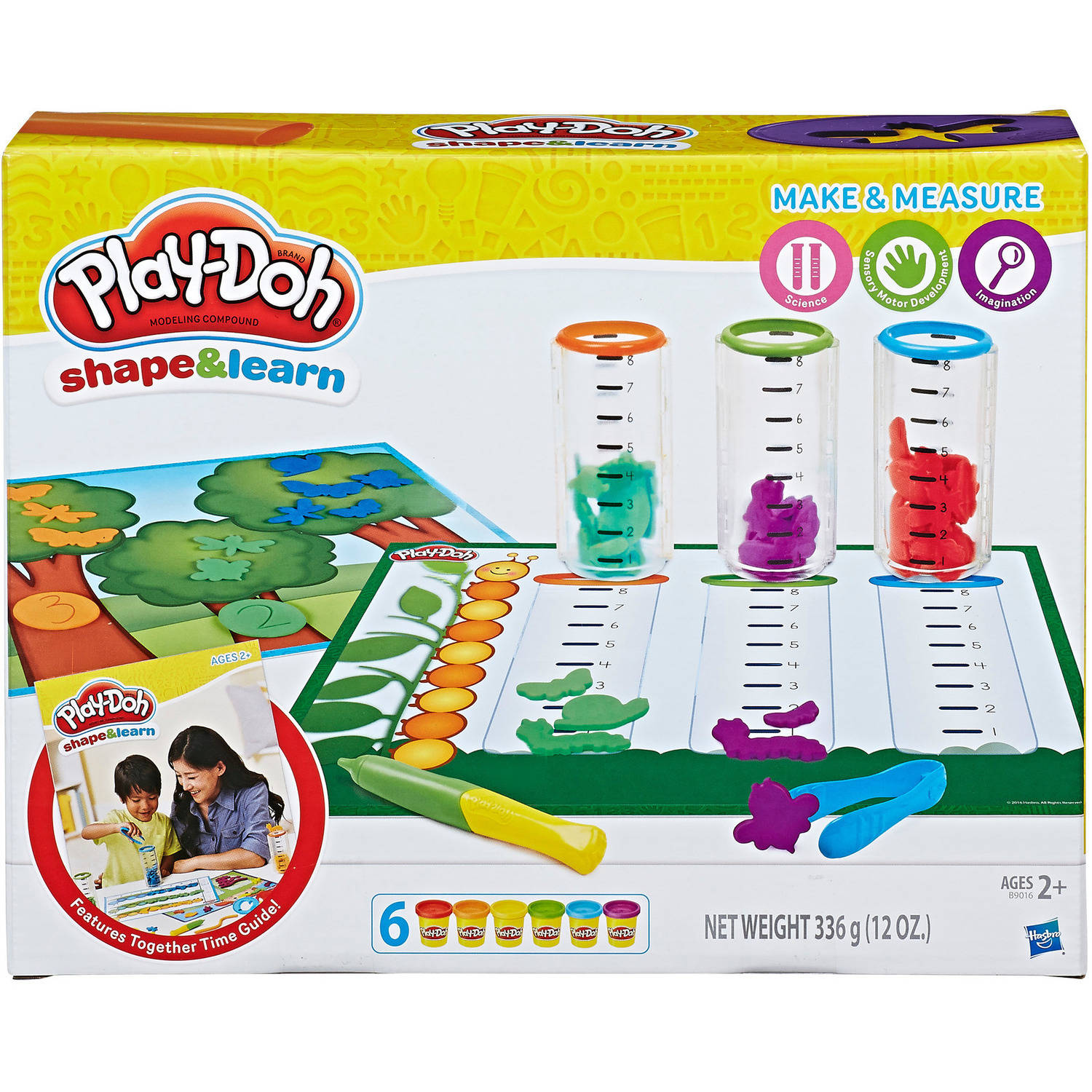 Play-Doh Shape & Learn Make & Measure Set with 6 Cans of Dough & 16+ Tools