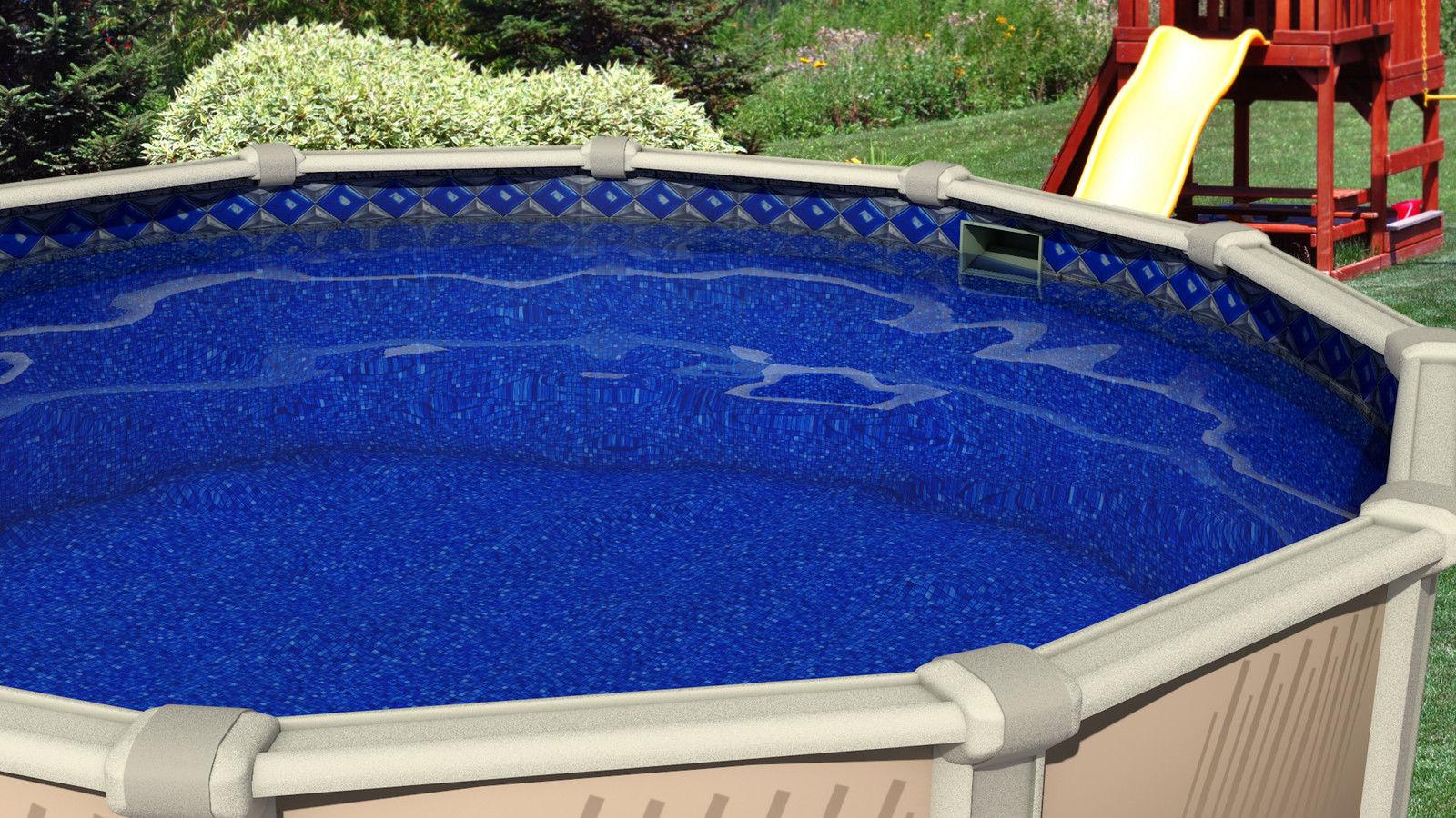27 ft round unibead 48 inch swimming pool liner 25 gauge