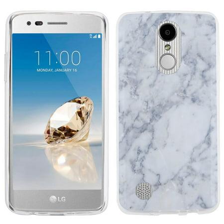Fit LG Phoenix 3 / Fortune, One Tough Shield Slim-Fit Premium TPU Gel Phone Case for LG Phoenix 3 / LG Fortune - Marble /