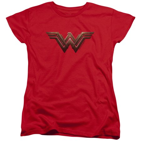 Trevco WONDER WOMAN MOVIE WONDER WOMAN LOGO Red Adult Female T-Shirt - Woman Adult