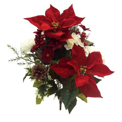 Better Homes and Gardens Poinsettia Bush, Red/White