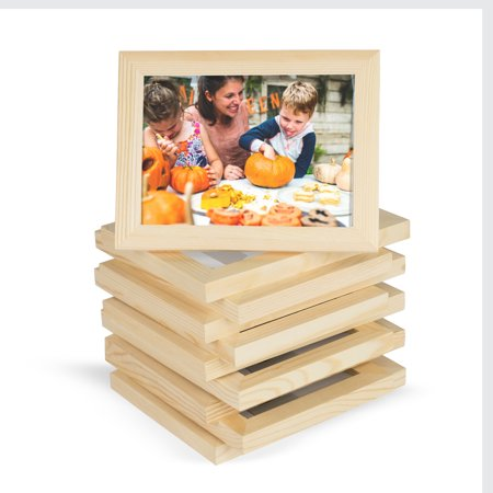 Wallniture Alps 4x6 Picture Frame Unfinished Solid Wood, Set of