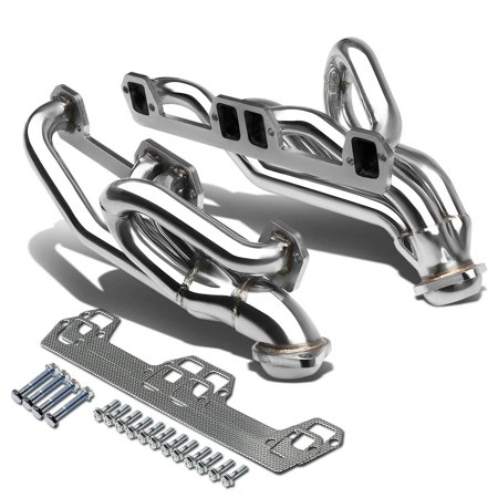 For 1994 to 2002 Dodge Ram 1500 / 2500 / 3500 4 -1 Design 2 -PC Stainless Steel Exhaust Header - 5.9L V8 95 96 97 98 99 00 01