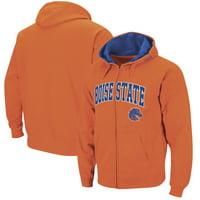 Boise State Broncos Colosseum Wordmark Arch & Team Logo Full-Zip Hoodie - Orange