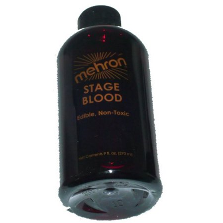 Stage Blood Bright Arterial 9 oz Mehron TV Movie Special Effects Fake Makeup - Halloween Special Effects Makeup Tutorials