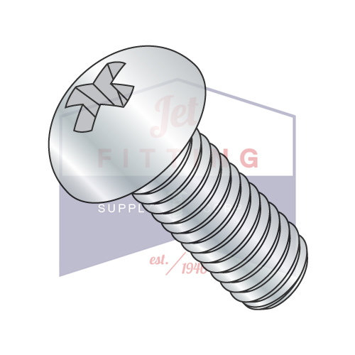 "1/4-20 x 5"" Machine Screws | Phillips | Round Head | Steel | Zinc (Quantity: 200)"