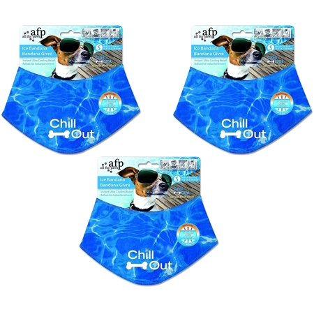 (3 Pack) Chill Out Ice Bandanas, Small, 3 Pack of All for Paws Chill Out Ice Bandanas - Small By ALL FOR PAWS - Bandanas For Sale