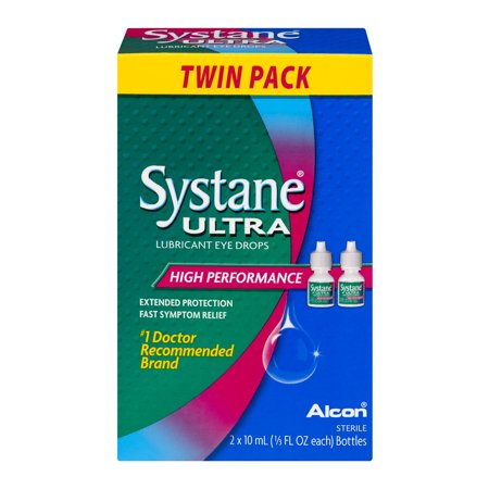 Systane Ultra Lubricant Eye Drops High Performance - 2 PK, 0.33 FL OZ