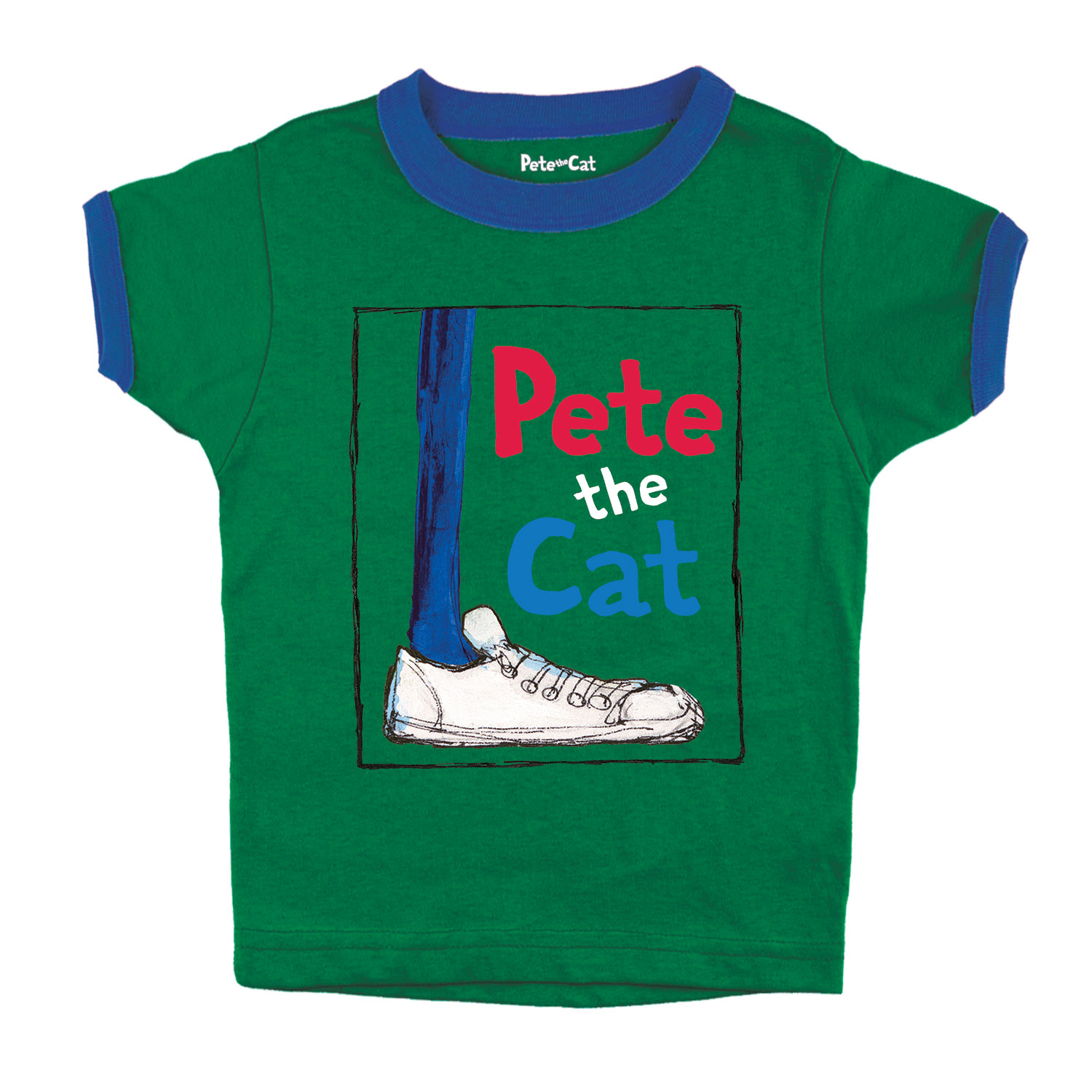 Pete the Cat  Shoe with Frame Toddler Short Sleeve Ringer Tee