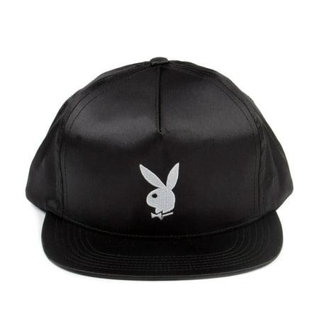 0755772201d Supreme Playboy Satin Snapback 5-Panel Hat Black White SS16H49-BLK -  Walmart.com