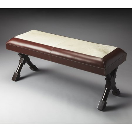 Butler Taos Leather and Hair-On-Hide Bench