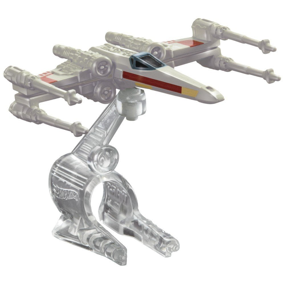 Hot Wheels Star Wars X-Wing Fighter Red Three Starship by Mattel