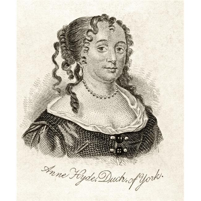 Posterazzi DPI1855462LARGE Anne Hyde Duchess of York 1637-1671 Wife of James II Mother of Mary II & Queen Anne From The Book Crabbs Historical Poster Print, Large - 26 x 32 - image 1 de 1