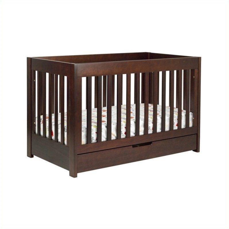 Babyletto Mercer 3-in-1 Convertible Wood Crib in, Espresso & White