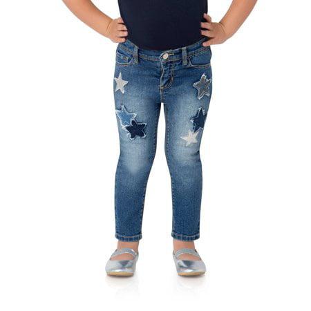 Toddler Girls Skinny Jeans 2 Pockets Knit Waistband Pull-on Jordache 2T 3T 4T